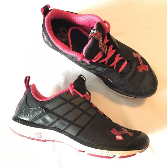 0a9a92ba22 Girls Black And Pink Under Armour Running Shoes
